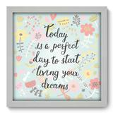 Quadro Decorativo - Start Living - 33cm x 33cm - 052qdrb - Allodi