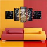 Quadro Decorativo Steve Jobs Apple Informática Mosaico Moderno 5 Peças T2 - Vital