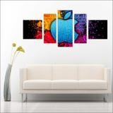 Quadro Decorativo Steve Jobs Apple Informática Mosaico Moderno 5 Peças T3 - Vital