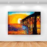 Quadro Decorativo Sunset 100x70cm Horizontal Click Brands