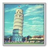 Quadro Decorativo - Torre de Pisa - 70cm x 70cm - 004qnmdb - Allodi