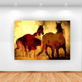 Quadro Decorativo Vintage Horse 100x70cm Horizontal Click Brands