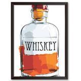 Quadro Decorativo - Whiskey Aquarela - 34x24cm - Cool art