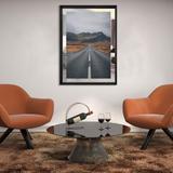 Quadro em Tela Paisagem Estrada e Montanhas na Islândia 80x110cm - Decore pronto
