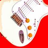 Quadro Fender Stratocaster Branca por Eduardo Scaravaglione - Cuadrado