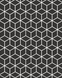 Quadro Geométrico Preto  Branco - Soluza