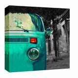Quadro Impressão Digital Kombi Azul 30x30cm Uniart