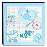 Quadro Infantil Baby Boy Canvas 30x30cm-INF129 - Lubrano decor
