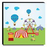 Quadro Infantil Circo Canvas 30x30cm-INF370 - Lubrano decor