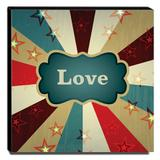 Quadro Infantil Circo Love Canvas 30x30cm-INF367 - Lubrano decor