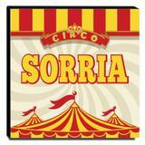 Quadro Infantil Circo Sorria Canvas 30x30cm-INF357 - Lubrano decor