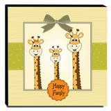 Quadro Infantil Girafas Canvas 30x30cm-INF63 - Lubrano decor