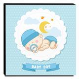 Quadro Infantil Maternidade Baby Boy Canvas 30x30cm-INF147 - Lubrano decor
