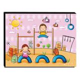 Quadro Infantil Parque de Diversões Canvas 30x40cm-INF85 - Lubrano decor