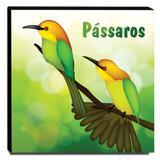 Quadro Infantil Pássaros Canvas 30x30cm-INF111 - Lubrano decor