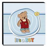 Quadro Infantil Ursinho Canvas 30x30cm-INF69 - Lubrano decor