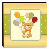 Quadro Infantil Ursinho Canvas 30x30cm-INF70 - Lubrano decor