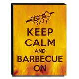 Quadro Keep Calm And Barbecue On Canvas 40x30cm-KCA69 - Lubrano decor