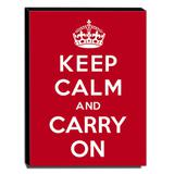 Quadro Keep Calm And Carry On Canvas 40x30cm-KCA01 - Lubrano decor