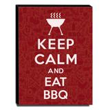 Quadro Keep Calm And Eat BBQ Canvas 40x30cm-KCA70 - Lubrano decor