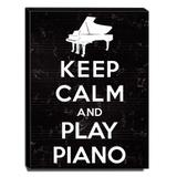 Quadro Keep Calm And Play Piano Canvas 40x30cm-KCA42 - Lubrano decor