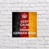 Quadro Keep Germany Drink Cerveja 35X25 - Promograf