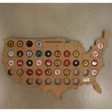 Quadro Mapa Usa Para Tampas Cerveja 30x50 Cm - Ika