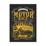 QUADRO MOTOR RACE - TAMANHO A3 - Placa Decorativa - MDF - Pôster no quadro