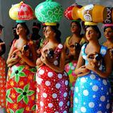 Quadro Mulheres coloridas por Vicky Fernandez - Cuadrado