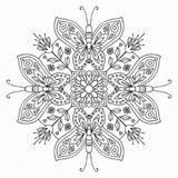 Quadro para COLORIR Mandala Borboletas por Vicky Fernandez - Cuadrado