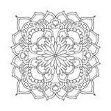 Quadro para COLORIR Mandala Quadrada por Vicky Fernandez - Cuadrado