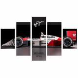 Quadro Para Decoração Ayrton Senna 200x10cm - Quadros mais