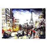 Quadro Placa com Ganchos Paris Retrô Porta Chaves - Joy