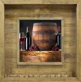 Quadro Porta Rolhas de Vinhos 60x60cm - Decore pronto