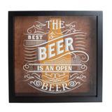 Quadro Porta-Tampa de Cerveja Open Beer 35 cm x 35 cm - Home Style