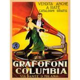Quadro Poster Grafofoni Columbia Ano 1920 33,2 X 27 Cm - Versare anos dourados