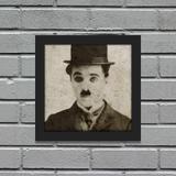 Quadro Retrô Charlie Chaplin - Yaay
