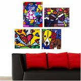 Quadro Romero Britto Decorativo Heart Releitura Rb - Quadros mais