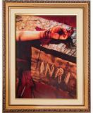 Quadro tradicional das mãos ensanguentadas de jesus - Armazem