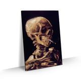 Quadro Van Gogh Caveira com cigarro aceso Tela Canvas 60x40 - Bimper