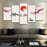 Quadros Decorativos Japão 63x130mt em Tecido - Wall frame
