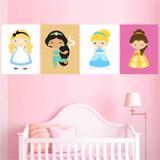 Quadros Decorativos Princesas Disney Lançamento - Quarto - Quadros mais