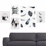 Quadros Good Vibes - Abstratos - Lua - Moderno - Quadros mais