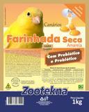 Ração Farinhada Seca FSO 50 Amarela 1 kg Canário - Zootekna