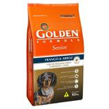 Ração golden formula cães senior mini bits 10 kg