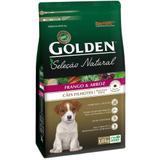 Ração Golden Seleção Natural Mini Bits Cães Filhotes Raças Pequenas Sabor Frango e Arroz