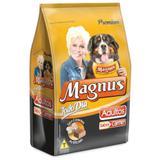 Ração Magnus Todo Dia Adultos Sabor Carne 25 kg + Escova
