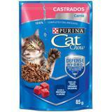 Ração Nestlé Purina Cat Chow Castrados Sachê Carne 85g