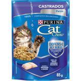 Ração Nestlé Purina Cat Chow Castrados Sachê Peixe ao Molho 85gr