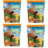 Ração P/ Coelho Funny Bunny 2 Kls Supra (4x Pçt 500g)